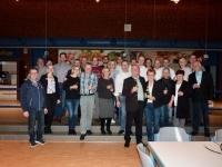 Die Mitglieder des Gewerbevereins Hille freuen sich über eine gelungene Veranstaltung.